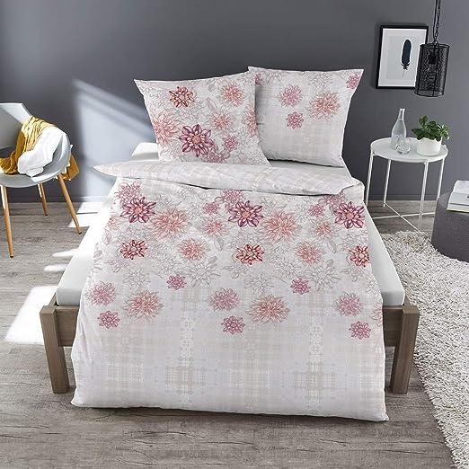 Dormisette Juego de sábanas Flores Color Blanco, 100% algodón ...