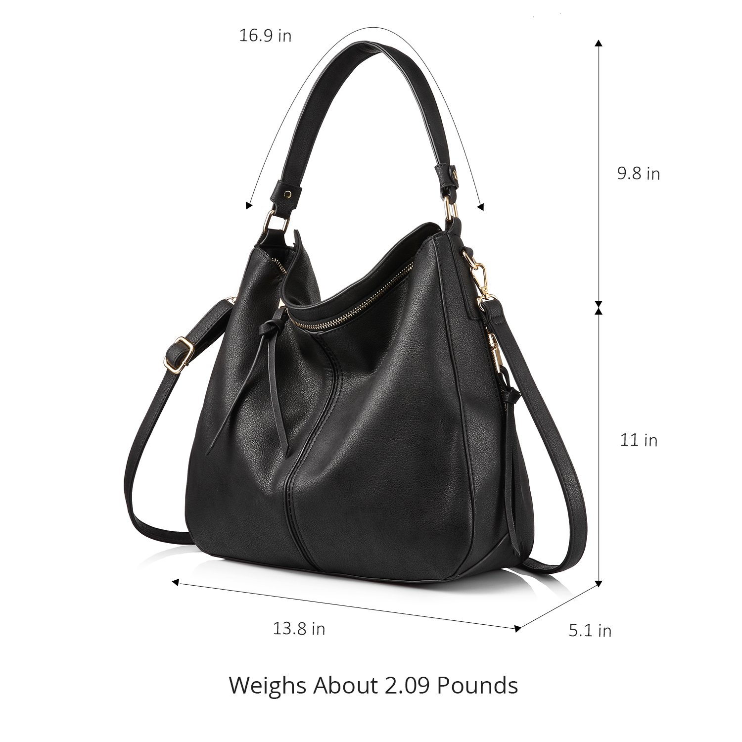cfe85ca10c Shoulder Bags for Women Large Ladies Crossbody Bag with Tassel  Handbags   Amazon.com