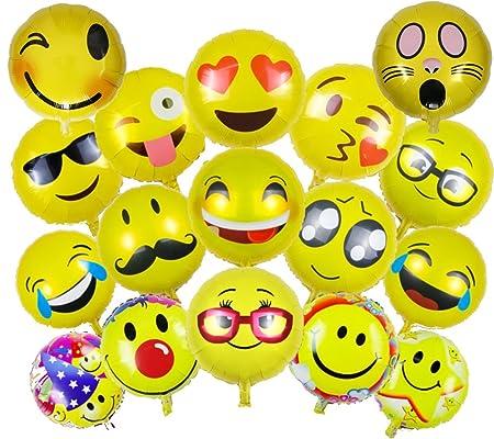Ballonfritz Emoji Partyfotos Luftballon Set 15 2 Fur Einzigartige