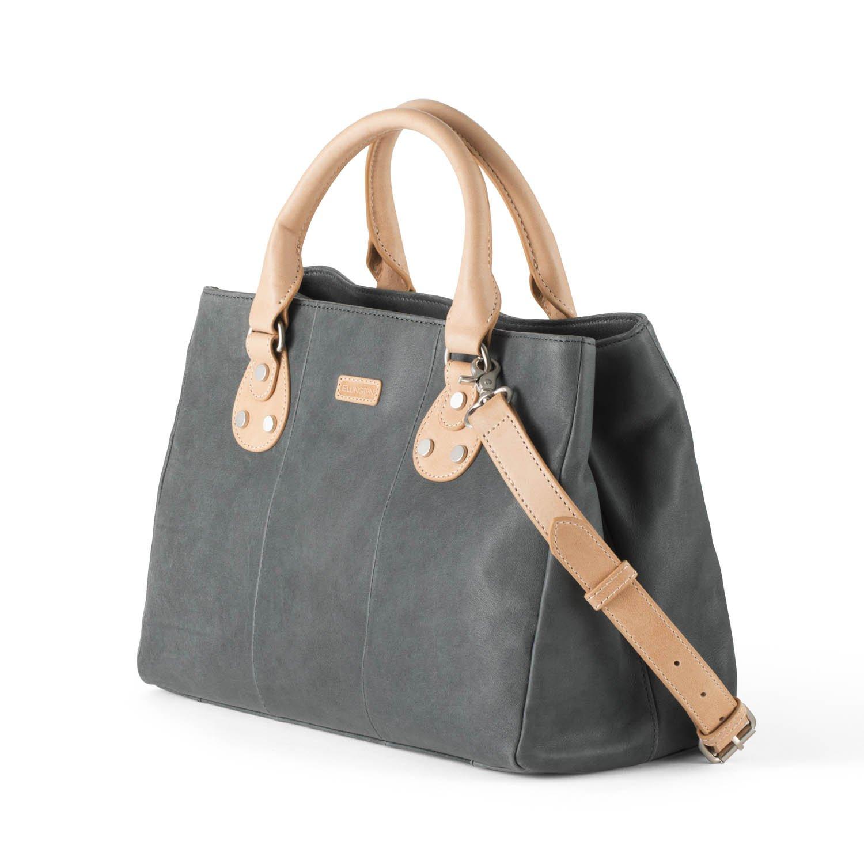 Ellington Handbags Eva Satchel – With Crossbody Strap Light Blue by Ellington