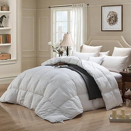 WENERSI White Down Comforter Full / Queen Size,Duvet Insert 600TC  100%  Cotton