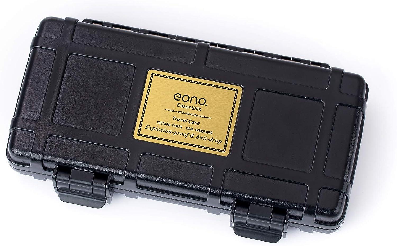 Schwarz sch/ützt vor Zerdr/ücken fasst bis zu 3 Zigarren Zigarrenbox Marke: Eono Essentials Reisehumidor f/ür Zigarren Zigarrenhalter wasserdichtes Zedernholz luftdicht