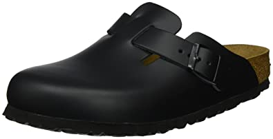 Birkenstock Boston, black, Smooth Leather