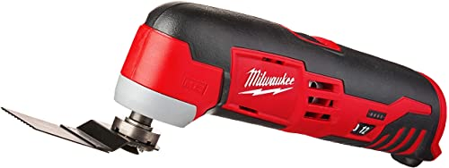 Milwaukee 2426-20 M12 12 Volt Redlithium Ion 20,000 OPM Variable Speed Cordless Multi Tool with Multi-Use Blade, Sanding Pad, and Multi-Grit Sanding Papers Battery Not Included, Power Tool Only