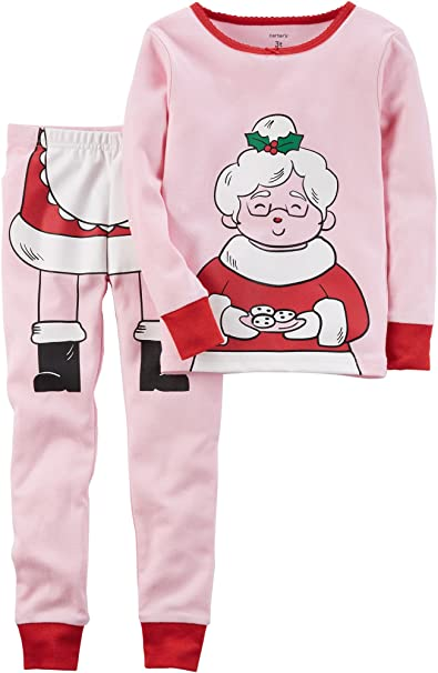 Amazon.com  Carter s Girls  12M-12 2 Piece Mrs. Clause Pajamas  Clothing 1561371c1