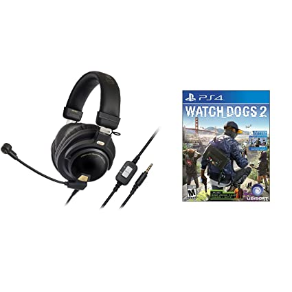1dd58b45c38 Image Unavailable. Image not available for. Color  Audio-Technica ATH-PG1  OpenBack Gaming Headset w Watch Dogs 2 ...