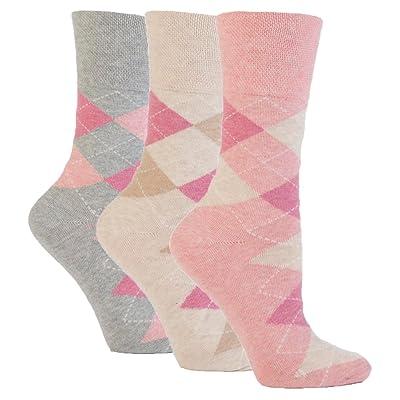 3 paires de Femmes Sock Shop Poignée Douce Chausettes, Designs Variés/Couleurs, femmes pointure UK 4-8