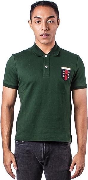Gucci Hombres del Logotipo Bordado Verde Polo Camisa Verde ...