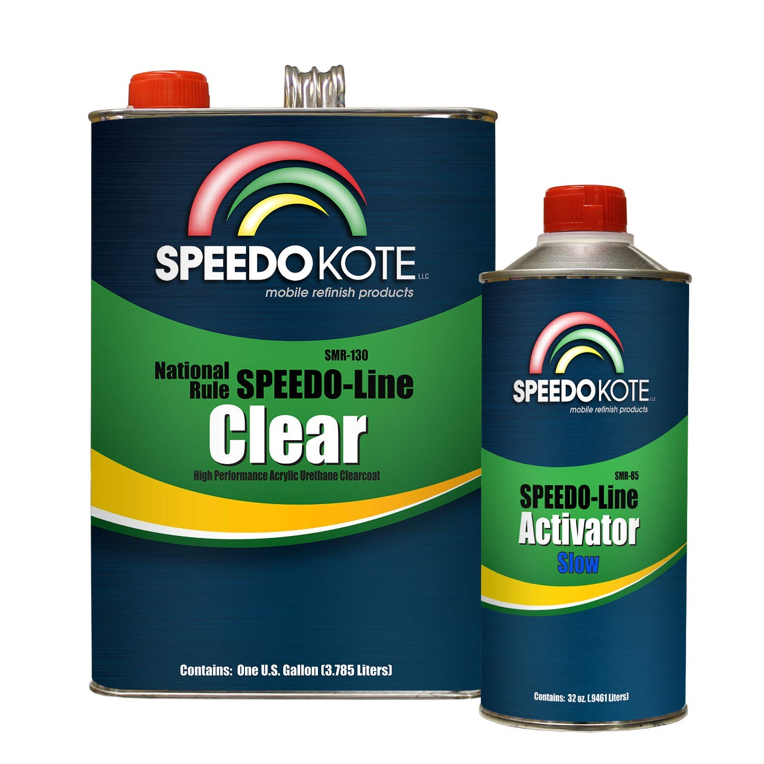 Speedokote SMR-130/85 - Automotive Clear Coat Fast Dry 2K Urethane, 4:1 Gallon Clearcoat Kit with Slow Activator by Speedokote