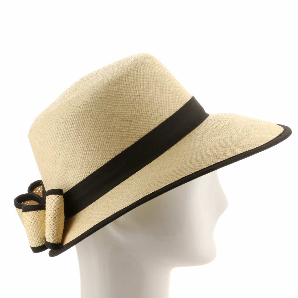 1920s Accessories | Great Gatsby Accessories Guide Vivianne Scoop Handwoven Straw Visor Panama Hat Made In Ecuador $125.99 AT vintagedancer.com