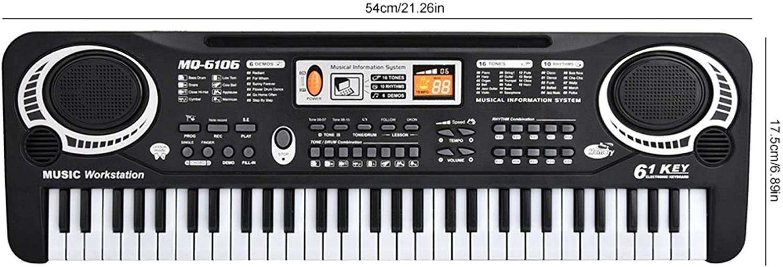 61 touches /électriques d/ébutant clavier num/érique Piano Instruments de musique avec Microphone pour enfants prise UE 100-240 V