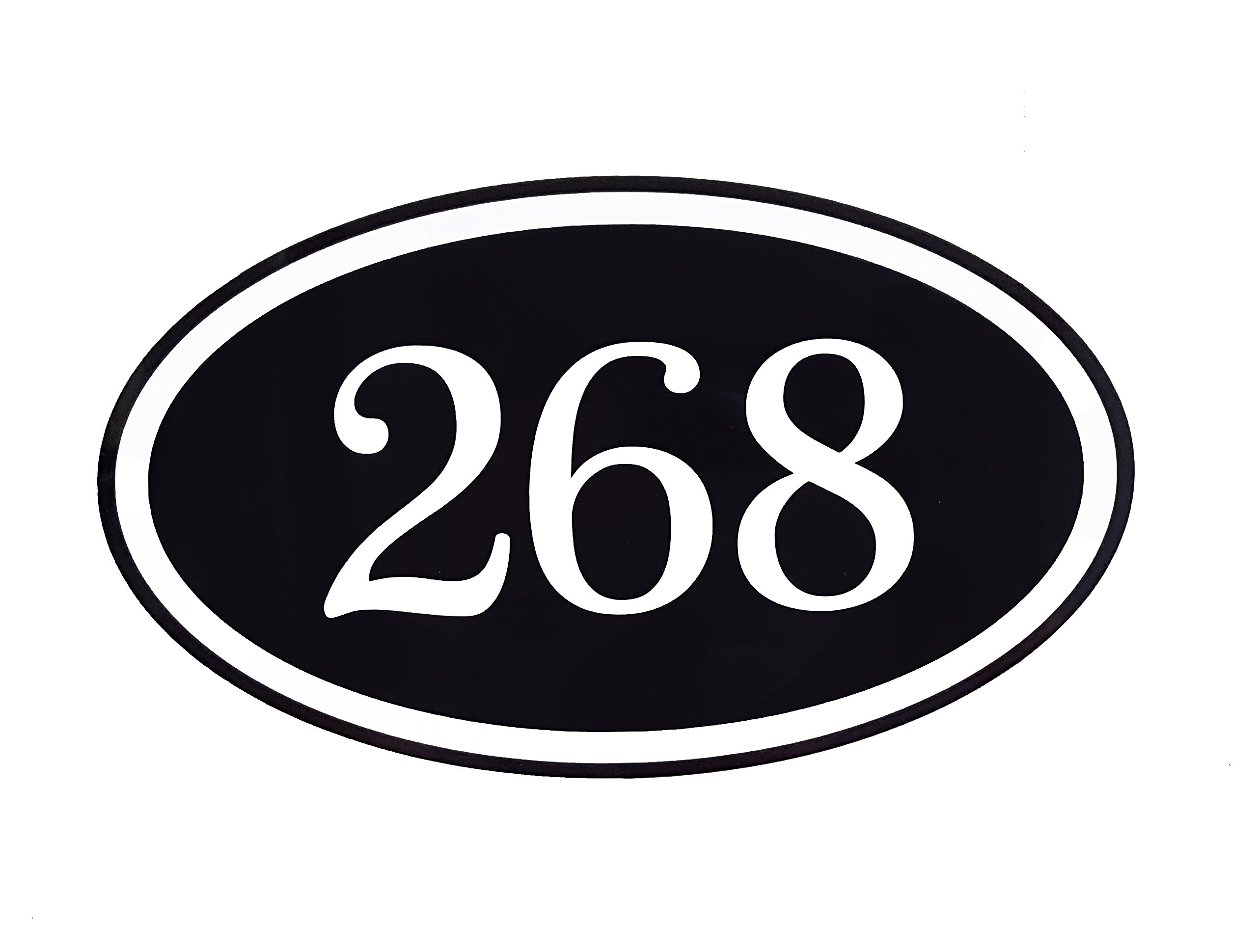 Personalized Home Address Plaque Custom Aluminum 12'' x 7'' Sign With Your Address Number