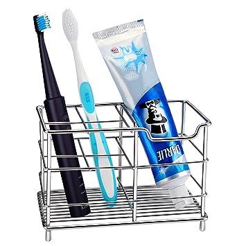 Amazon.com: Soporte para cepillo de dientes de acero ...
