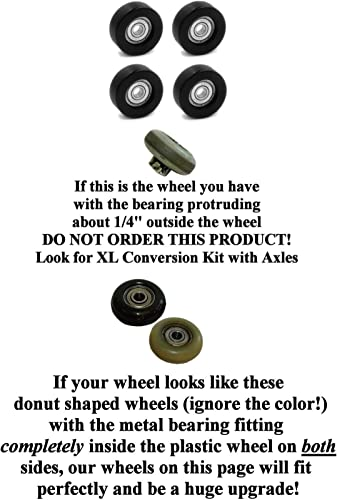 Extremely Strong 15 Year Breakage Warranty Wheels Fit Most Total Gym Model 2000, 3000, 3000 XL, and a Few Very Early XL. Set of 4 View All Pictures for Compatibility