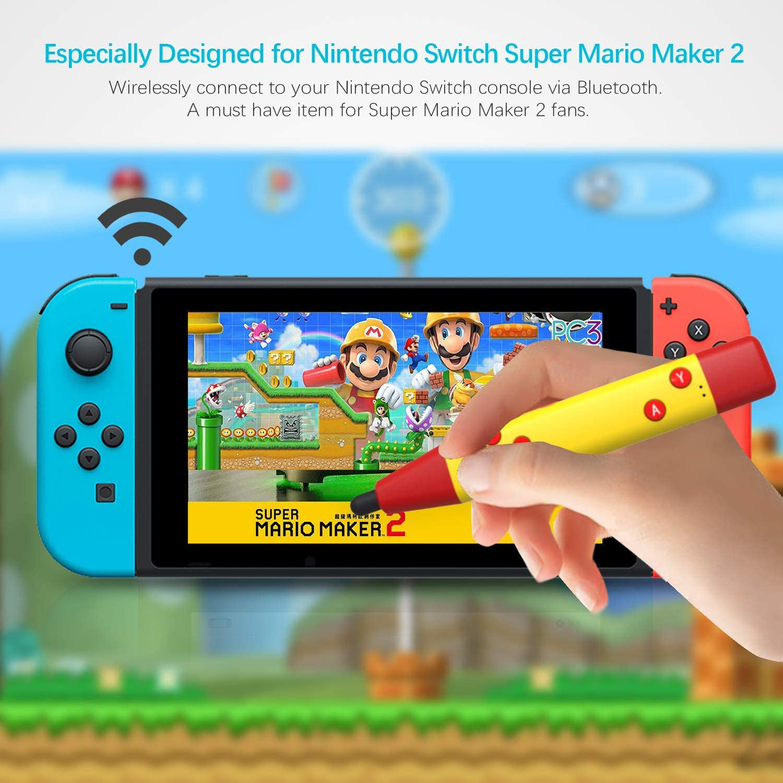 DarkWalker Mando Inalámbrico Gamepad Bluetooth Touch Pen Stylus Punteros para Nintendo Switch Super Mario Maker 2: Amazon.es: Electrónica