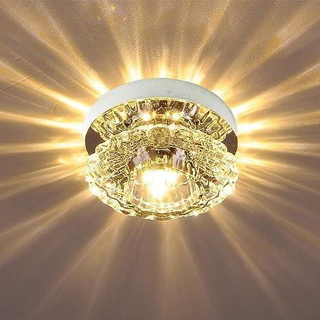 LED 5W AC85-265V 3000K lámpara de techo de cristal luces de ...