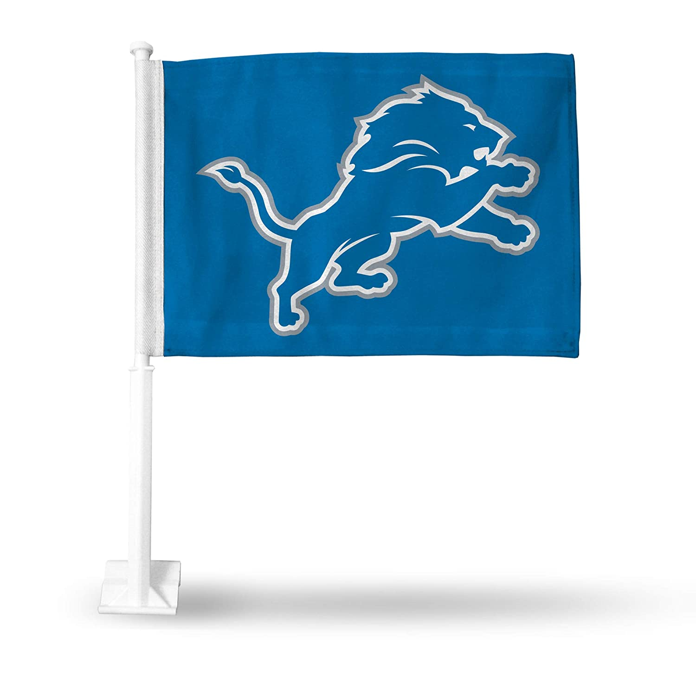 Rico Detroit Lions NFL 11X14 Window Mount 2-Sided Car Flag