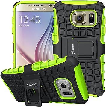 ykooe Funda para Galaxy S6, Samsung S6 Teléfono Híbrida de Doble ...