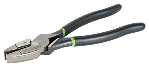 Greenlee 0151-09SM High Leverage Side-Cutting Pliers With Stripping Hole, Molded Grip, 9