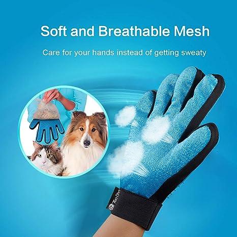 2PCS Guantes Manopla Masaje para Perros mascotas gatos, Retiro del pelo y aparato de masaje, promover la circulación de la sangre, Masaje de mascotas, ...