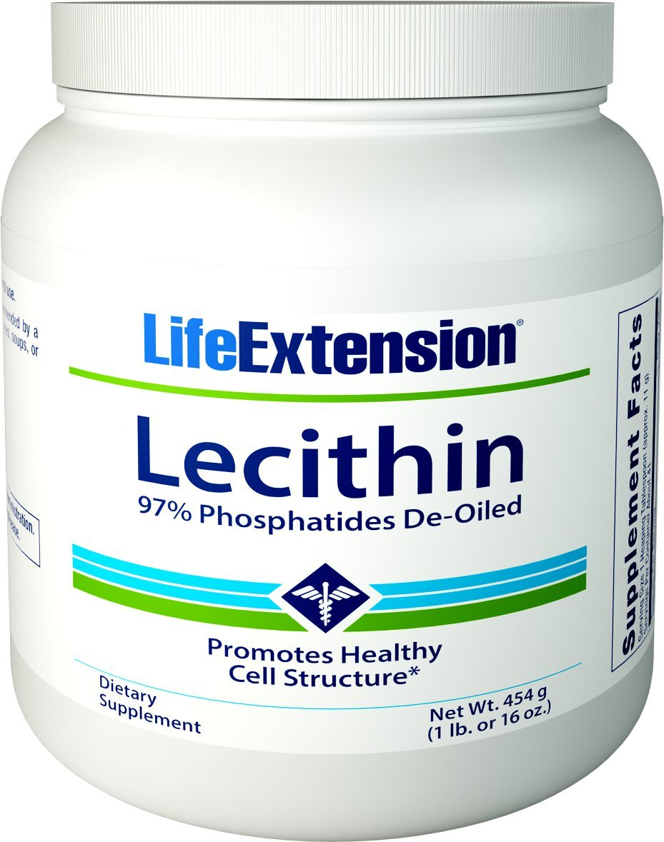 Life Extension Lecithin (97% Phosphatides De-Oiled), 16 Ounces by Life Extension