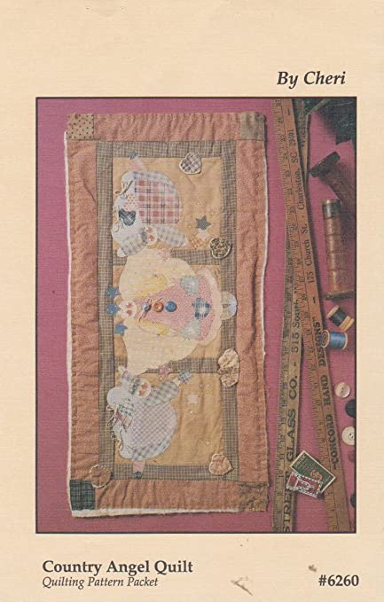 Amazon.com: Country Angel Quilt Craft Sewing Pattern By Cheri #6260