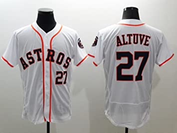 Los hombres de la # 27 Jose Altuve béisbol camiseta blanco, Multicolor: Amazon.es: Deportes y aire libre