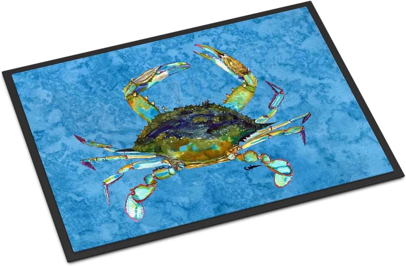 Carolines Treasures 8656-JMAT Crab Indoor or Outdoor Doormat Multicolor 24 x 36