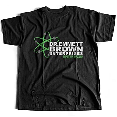 9141 Dr E Brown Enterprises Homme T-Shirt Back To The Future BTTF Hoverboard Flux Capacitor Hill Valley Biff Co