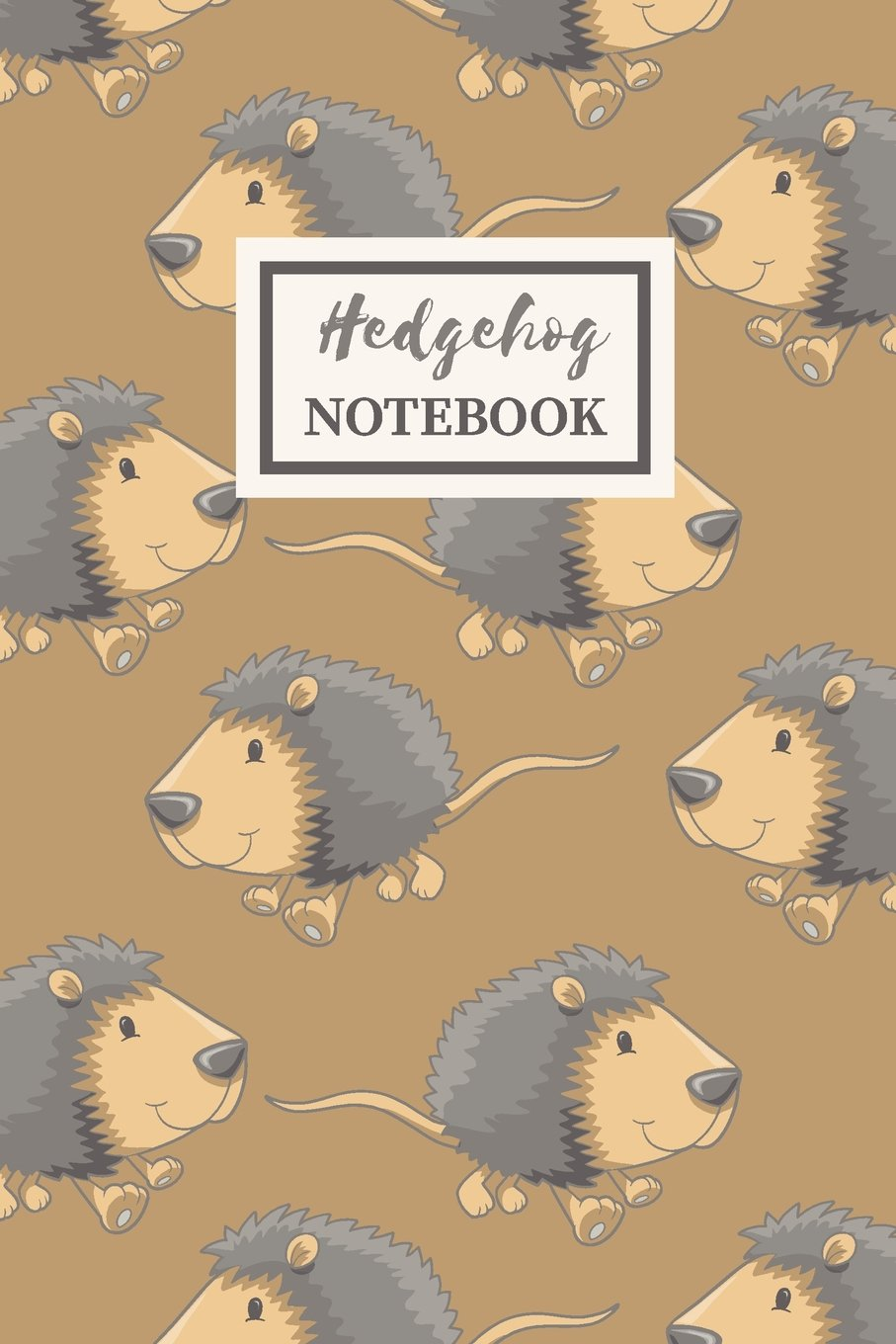 Download HEDGEHOG Notebook: Cute Animal Lover Gift Journal for Girls,  College-Ruled 120-page Blank Lined 6 x 9 in (15.2 x 22.9 cm) pdf epub