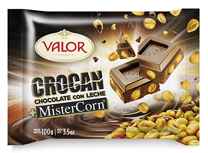Chocolates Valor - Crocan - Chocolate con leche y MisterCorn - 100 g