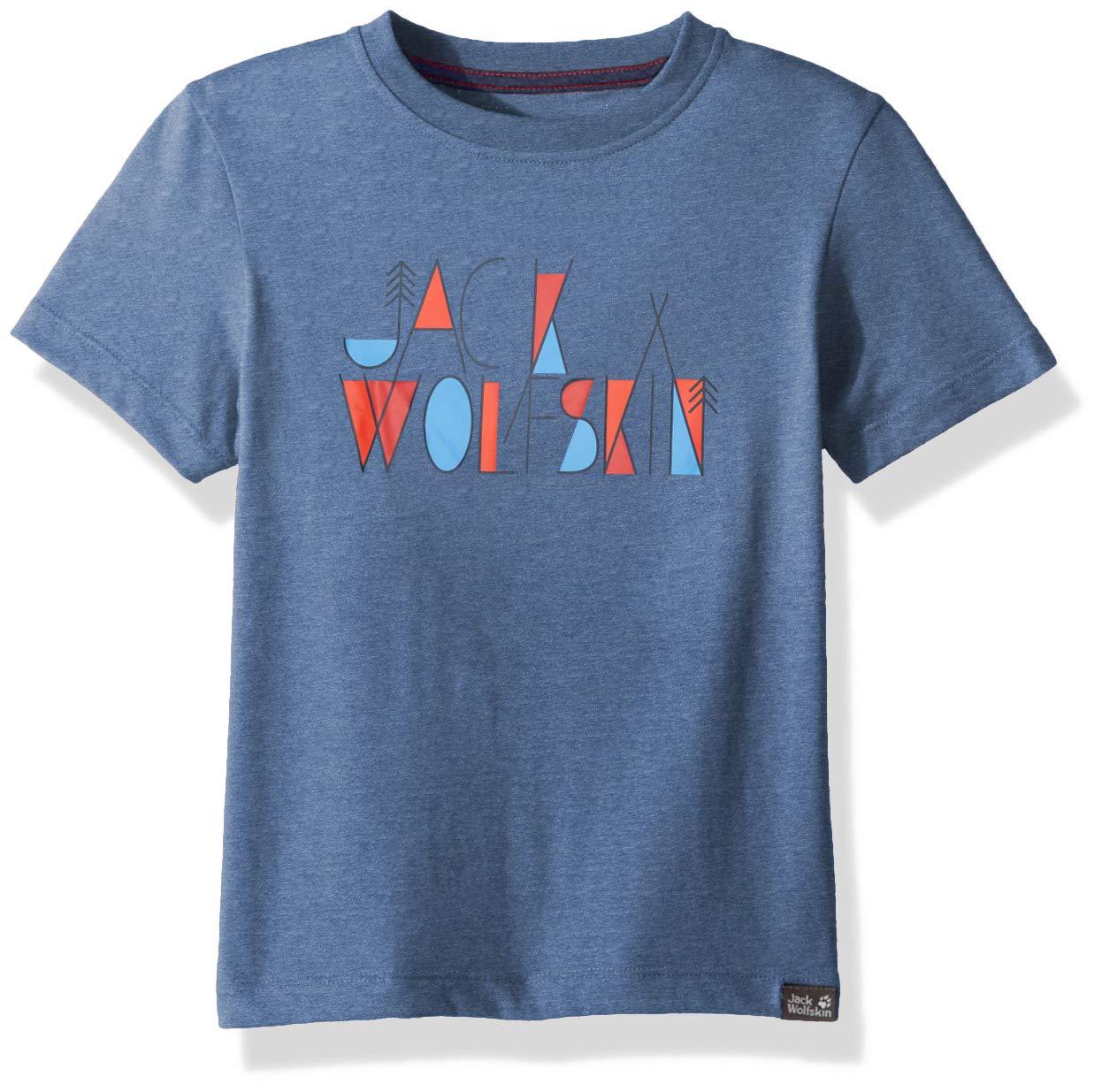 Jack Wolfskin Boy's Brand T T-Shirt Short Sleeve, 176 (14 Years & Older), Ocean Wave by Jack Wolfskin
