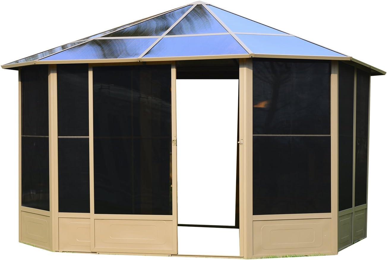 Outsunny-Aluminio jardín casa hogar jardín Carpa carpa (tienda Jardín 4x 4m techo: Amazon.es: Jardín