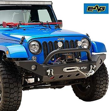 Jeep Wrangler Jk Front Bumper >> Eag Fits 07 18 Jeep Wrangler Jk Front Bumper With Fog Light Hole Offroad