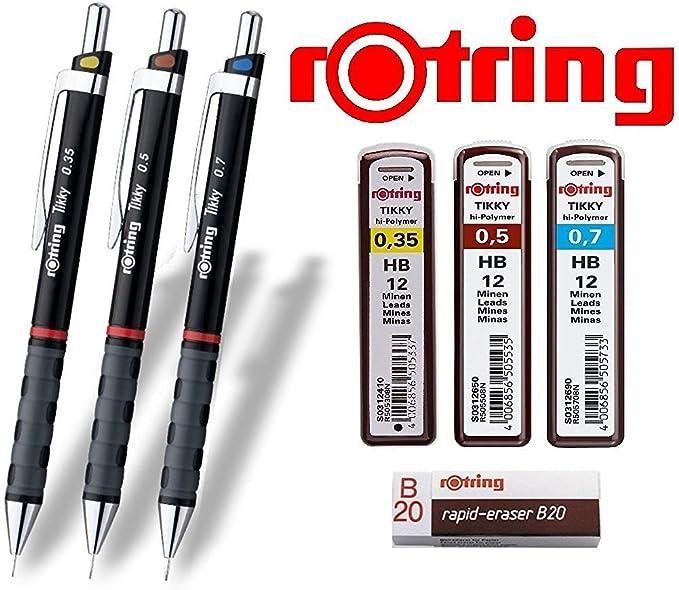 0,5mm STAEDTLER Mars/® micro 0,3mm 0,7mm Druckbleistifte 3er Set farbig Sparset mit 36 Feinminen H HB B