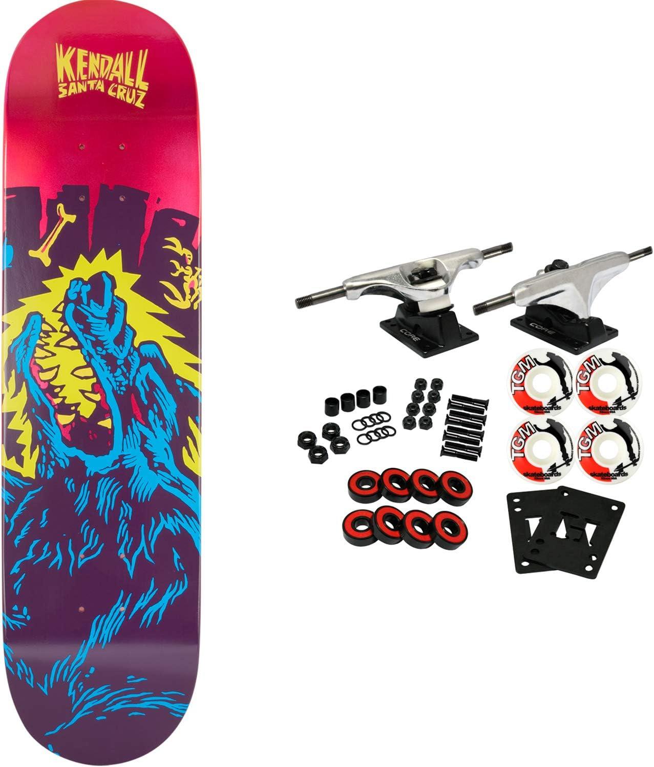 Santa Cruz Skateboards Kendall Wolf Flashback - Monopatín (21 x 80 cm): Amazon.es: Deportes y aire libre