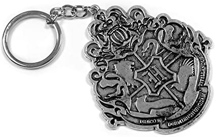 New Harry Potter Hufflepuff Necklace Metal Pendant Black Chain Keychain GIft