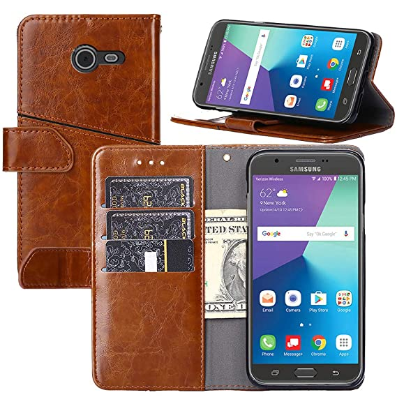 size 40 11ec5 c6dca Galaxy J5 2017 Case,Galaxy J5 Pro Case,Wallet Case for Samsung Galaxy J5  2017 [Stand Feature] Protective PU Leather Flip Cover with Credit Cards ...