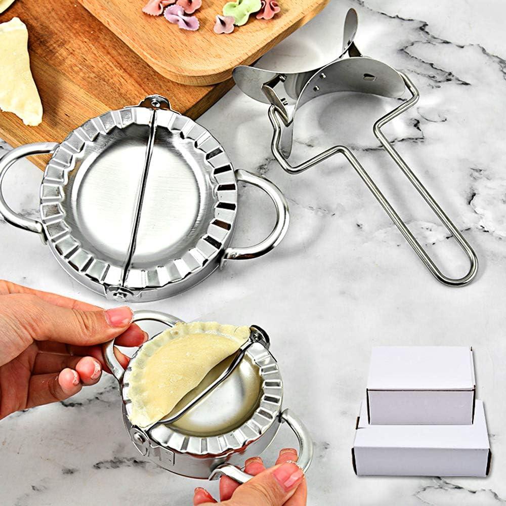 GlobalDream Moulle /à Chaussons 4 Pi/èces Machine /à Boulettes Moule /à Boulettes Moule /à Ravioli Fabricant de Boulette Presse /à P/âte pour Cuisine /à Domicile