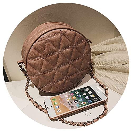 Bag Leather Crossbody Messenger Bag ies Purse Fe Round Bolsa Handbag, Brown, Mini(Max Length<20cm): Handbags: Amazon.com