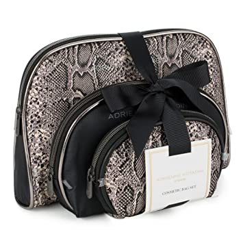 adcce49a52 Amazon.com   Adrienne Vittadini Cosmetic Makeup Bags  Compact Travel  Toiletry Bag Set in Small