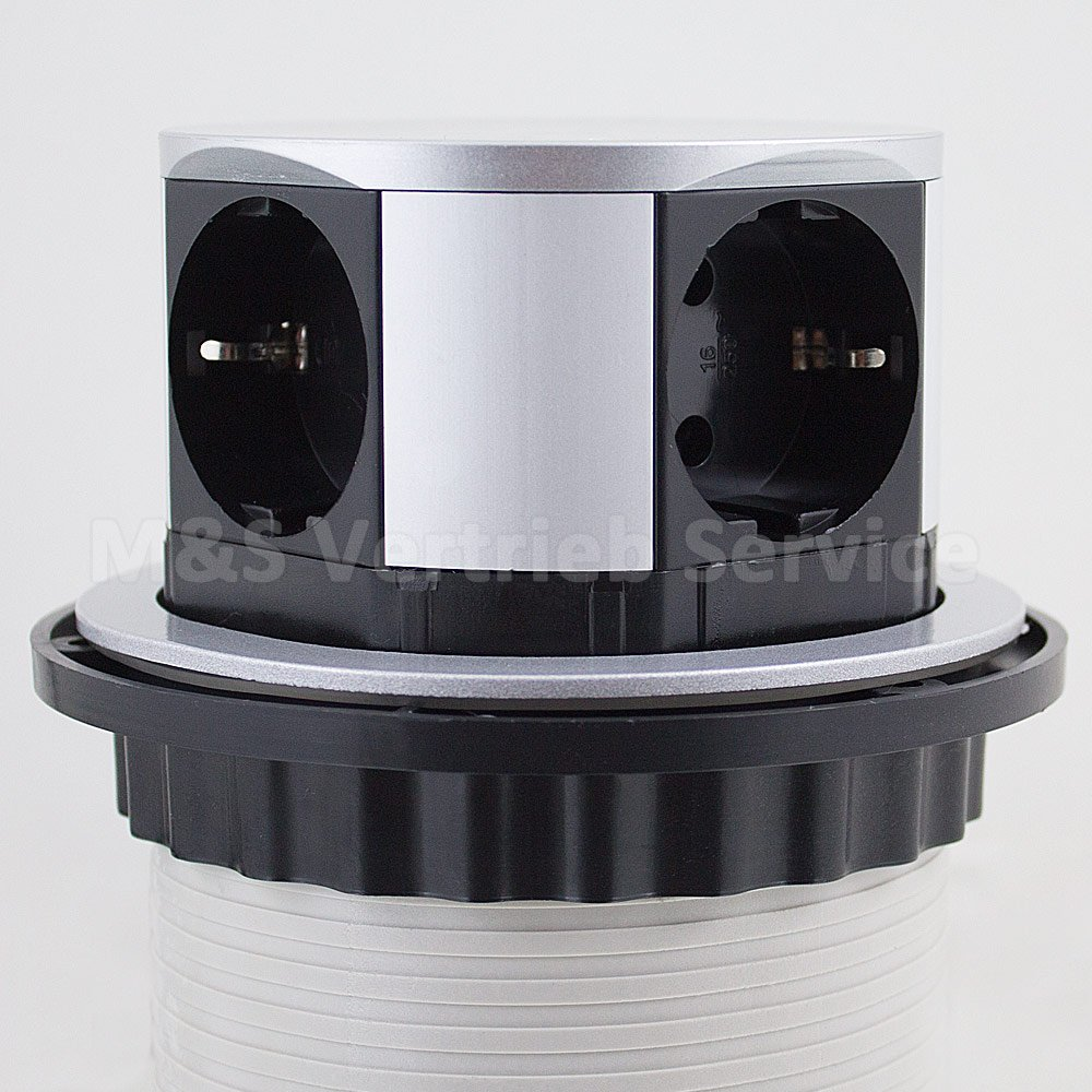 Mesa redonda de 4 enchufes abatible mesa regleta 4 regleta (150 cm cable