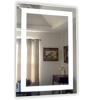 Amazoncom Wall Mounted Lighted Vanity Mirror Led Mam84836