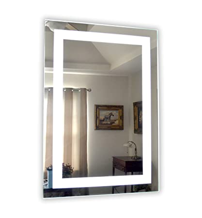 Amazoncom Wall Mounted Lighted Vanity Mirror Led Mam82840