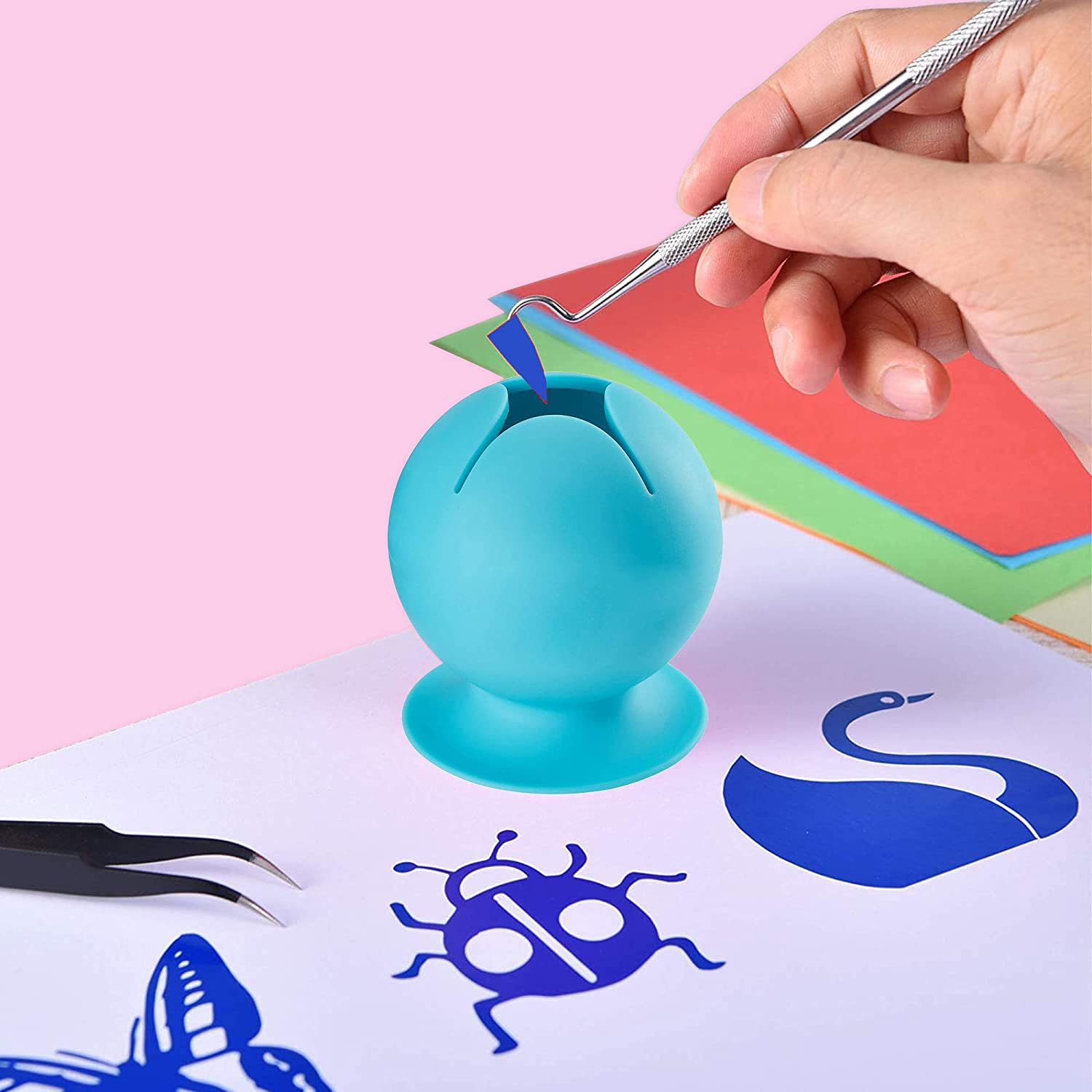 Soft Silicone Suction Can OURIZE Suctioned Vinyl Weeding Scrap Collector
