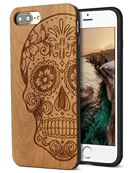 YFWWOOD - Carcasa para iPhone 7 (Madera), diseño de Hombre, Compatible con Apple iPhone 7 Plus