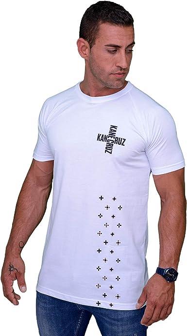 Kane Cruz - Brave Cross White Black - Camiseta Manga Corta Hombre - Fabricada en España - Moda Urbana: Amazon.es: Ropa y accesorios