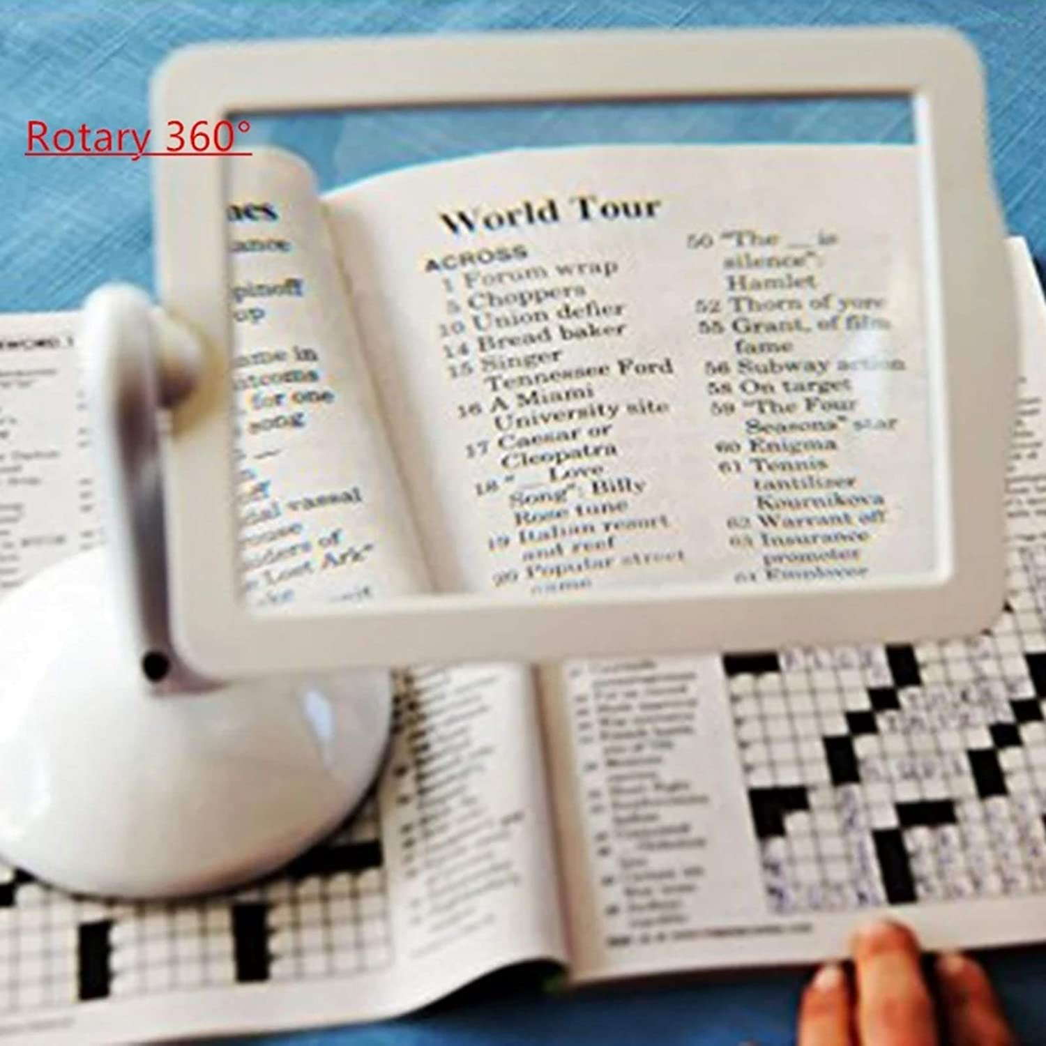 magnifying glass for reading Hands-Free Desktop Magnifier Magnifying glass with light and stand