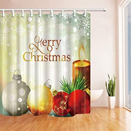 CdHBH Western Shower Curtains For Bathroom Against Snowflake Backdrop Polyester Fabric Waterproof Bath Curtain