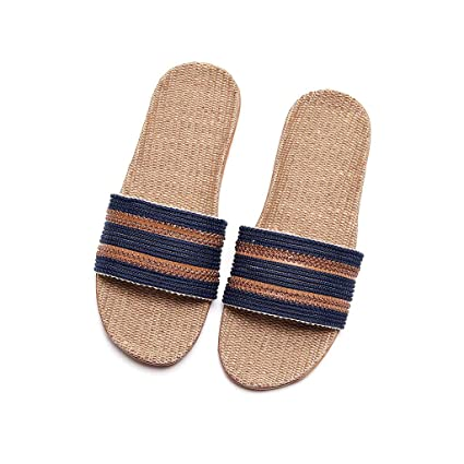 5307471fcdec8 Amazon.com : Longay Shoes, Men's Fashion Anti-Slip Linen Home Indoor ...